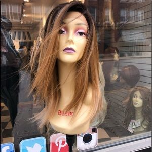 Accessories - Wig ombré blonde brown Swisslace lacefront wig